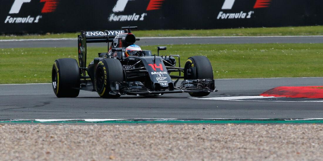 Fernando Alonso - McLaren - GP England - Silverstone - Qualifying - Samstag - 9.7.2016