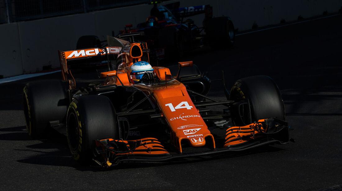 Fernando Alonso - McLaren-Honda - GP Aserbaidschan 2017 - Baku - Rennen