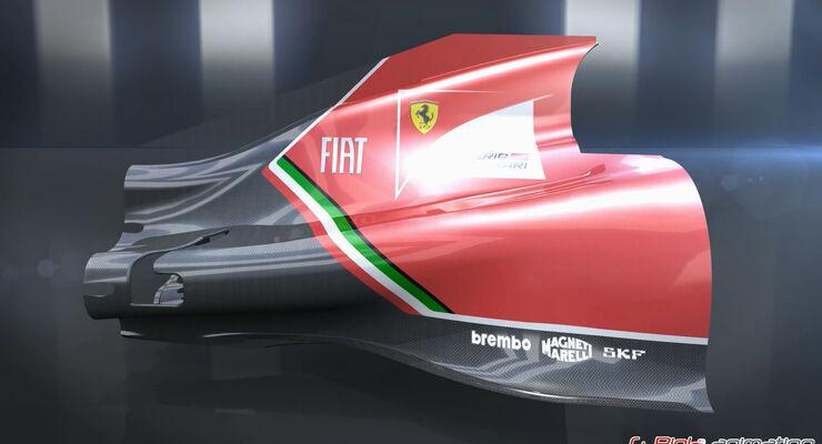 Ferrari F14T - Piola Animation - F1 Technik-Updates 2014