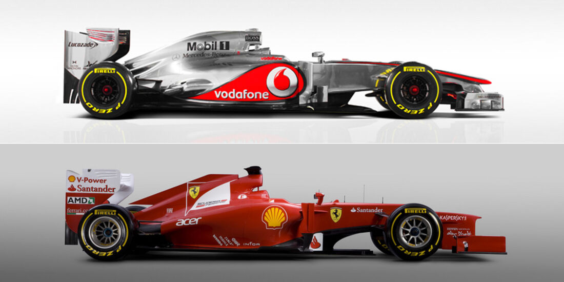 Ferrari F2012 vs. McLaren MP4-27