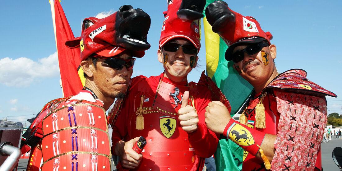Ferrari-Fans - Formel 1 - GP Japan - 12. Oktober 2013