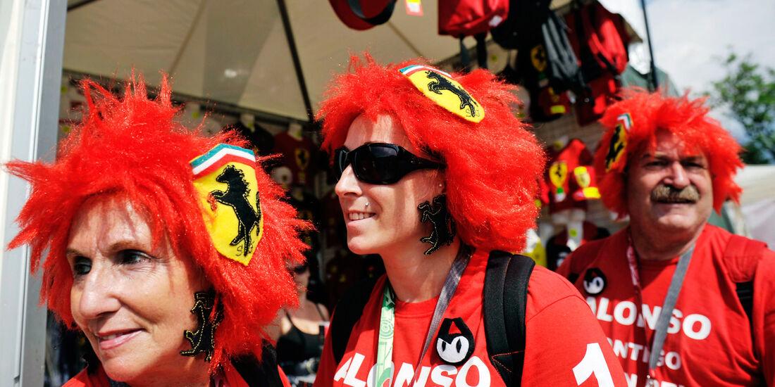 Ferrari Fans GP Ungarn 2012