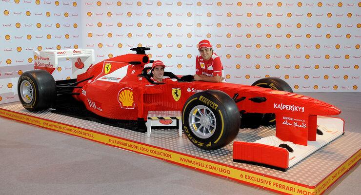 Ferrari Lego-Modell GP Singapur 2012