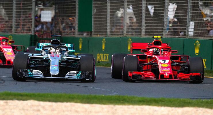 Ferrari vs. Mercedes - GP Australien 2018