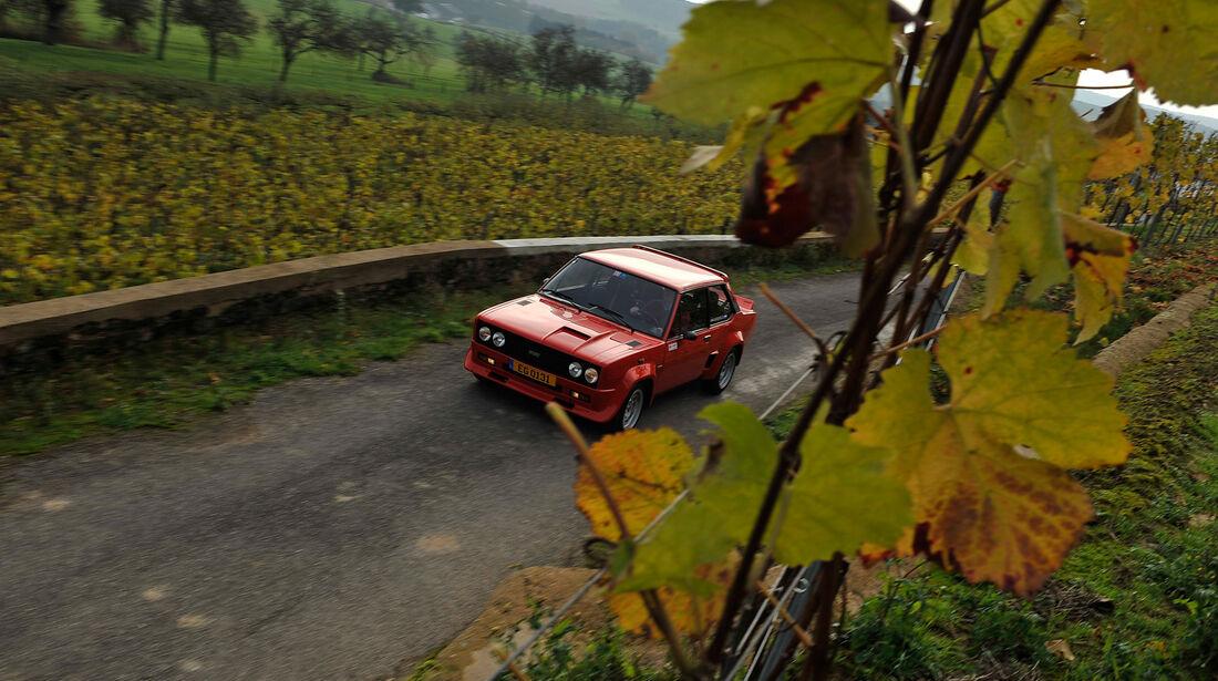 Fiat 131 Abarth, Frontansicht
