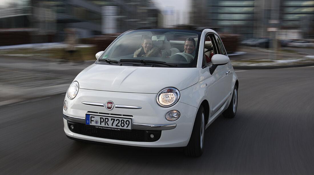 Fiat 500 C, Cabrio, faltbares Softtop