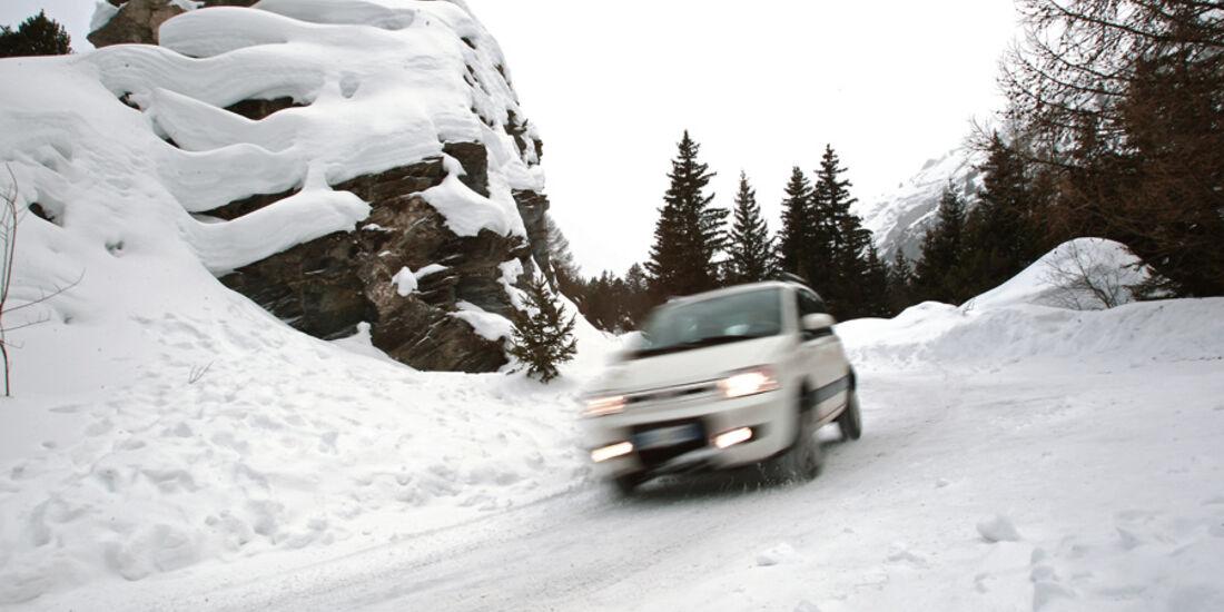 Fiat Panda 4X4, Front, Schneeberge