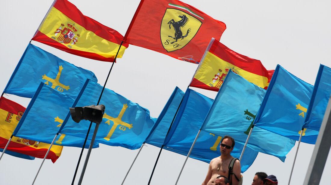 Flaggen - GP Spanien - 12. Mai 2012