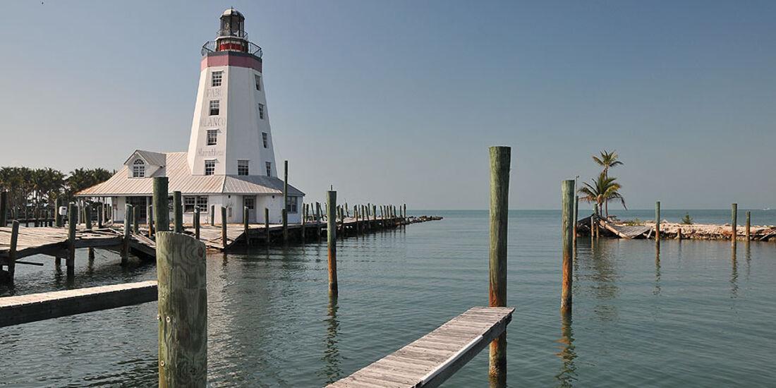 Florida mit BMW X5, leuchtturm