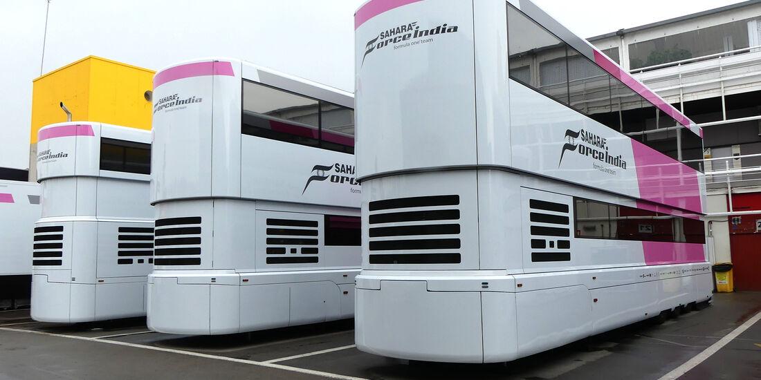Force India - F1-Motorhomes - GP Spanien 2018