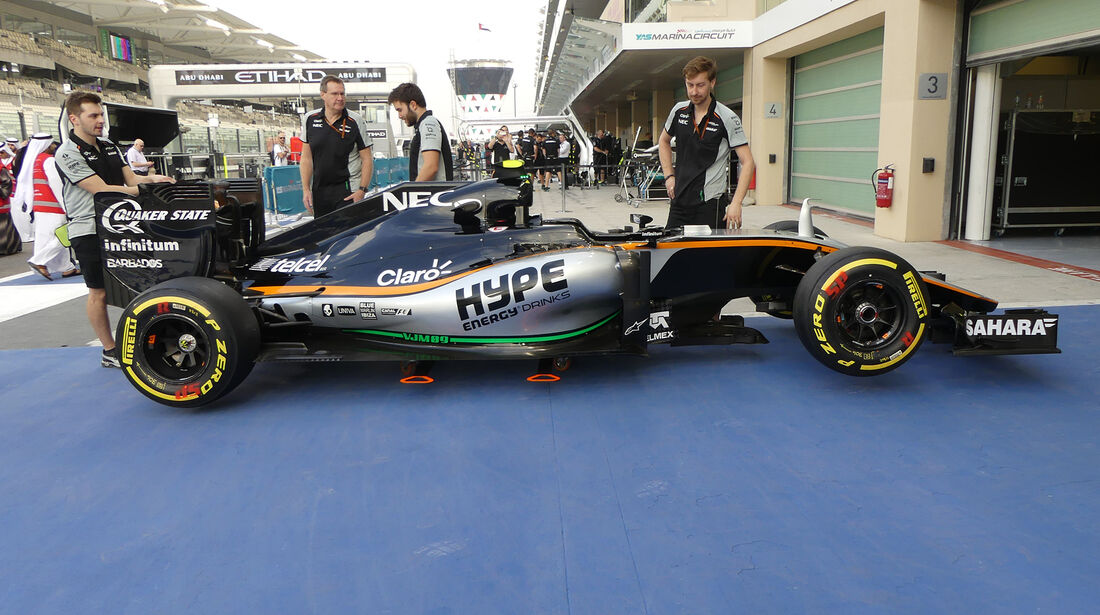 Force India - Formel 1 - GP Abu Dhabi - 24. November 2016