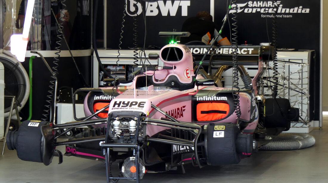 Force India - Formel 1 - GP Aseerbaidschan 2017 - Training - Freitag - 23.6.2017