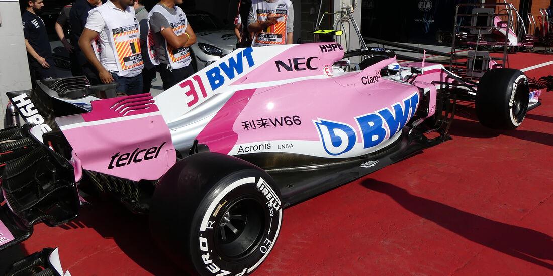 Force India - Formel 1 - GP Belgien - Spa-Francorchamps - 23. August 2018