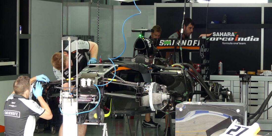 Force India - Formel 1 - GP Malaysia - Sepang - Donnerstag - 29.9.2016