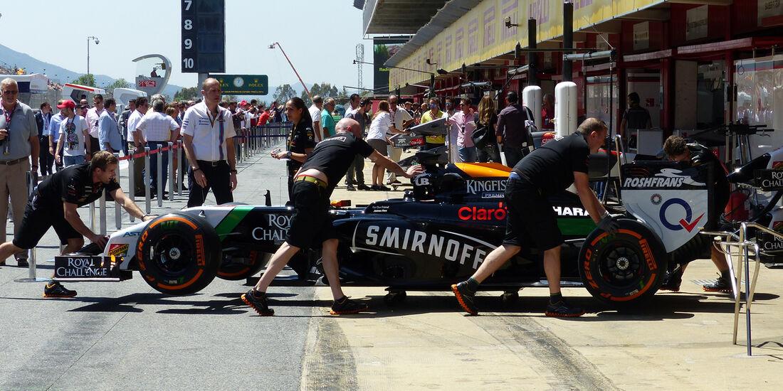Force India - Formel 1 - GP Spanien - Barcelona - 9. Mai 2014