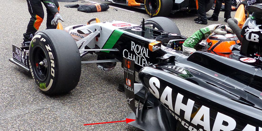 Force India - GP China 2014 - Technik