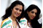 Force India-Girls - GP England - Qualifying - 9. Juli 2011