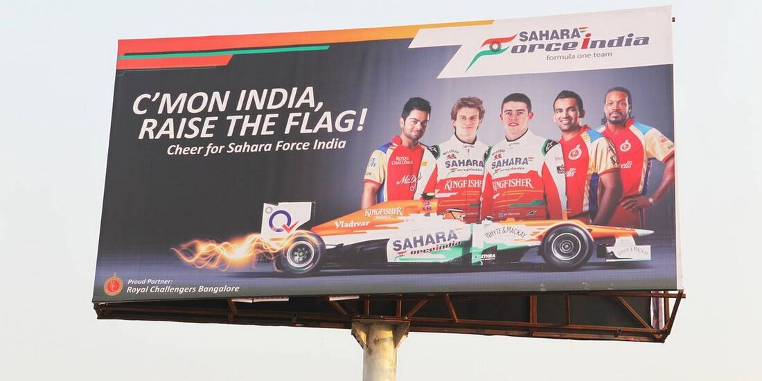 Force India Plakat - Formel 1 - GP Indien - 26. Oktober 2012