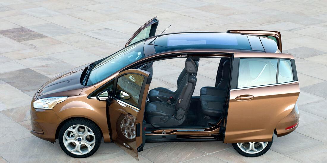 Ford B-Max, Seitenansicht, Schiebetüren