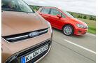 Ford C-Max 1.6 Ecoboost, VW Golf Sportsvan 1.4 TSI, Front