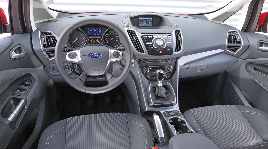 Ford C-Max 1.6 TDCi, Cockpit, Lenkrad