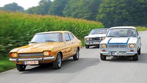 Ford Capri 2300 GT, Taunus 2.0 GXL, Escort RS 2000