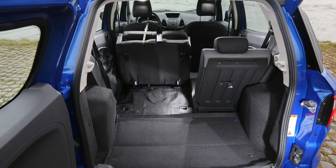 Ford Ecosport 1.0 Ecoboost, Ladefläche, Kofferraum
