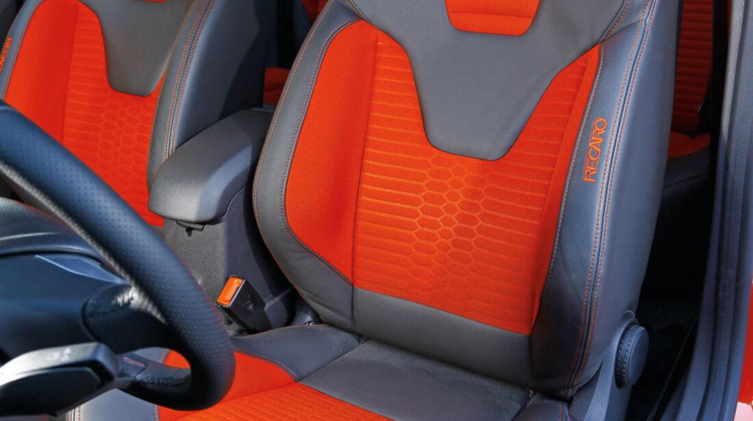 Ford Fiesta ST, Fahrersitz