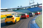 Ford Fiesta ST, Peugeot 208 GTI, Renault Clio R.S, VW Polo GTI, Heckansicht