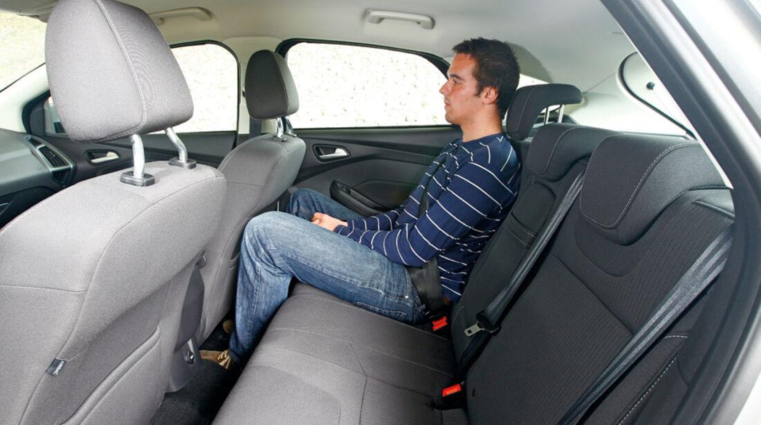 Ford Focus 1.6 ECOBOOST, Rückbank, Rücksitze