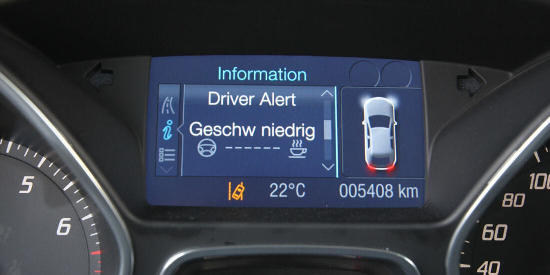 Ford Focus 1.6 Ecoboost, Müdigkeit, Anzeige