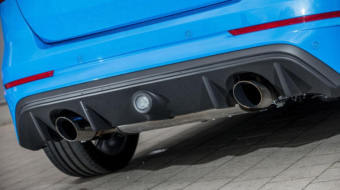 Ford Focus RS, Auspuff