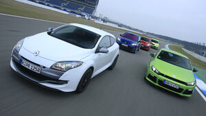 Ford Focus RS, Mazda 3 MPS, Renault Mégane R.S., Seat Leon Cupra R, VW Scirocco R