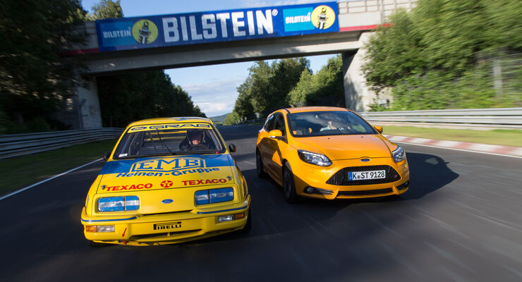 Ford Focus ST, Ford Sierra XR4 Ti, Frontansicht
