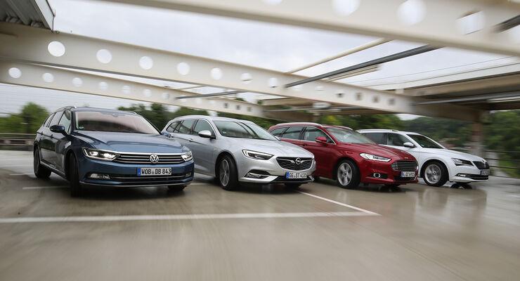 Ford Mondeo Opel Insignia Skoda Superb Und Vw Passat Auto Motor