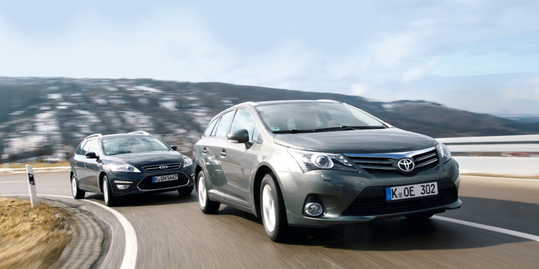 Ford Mondeo Turnier 2.0 TDCi, Toyota Avensis Combi 2.0 D-4D, Front