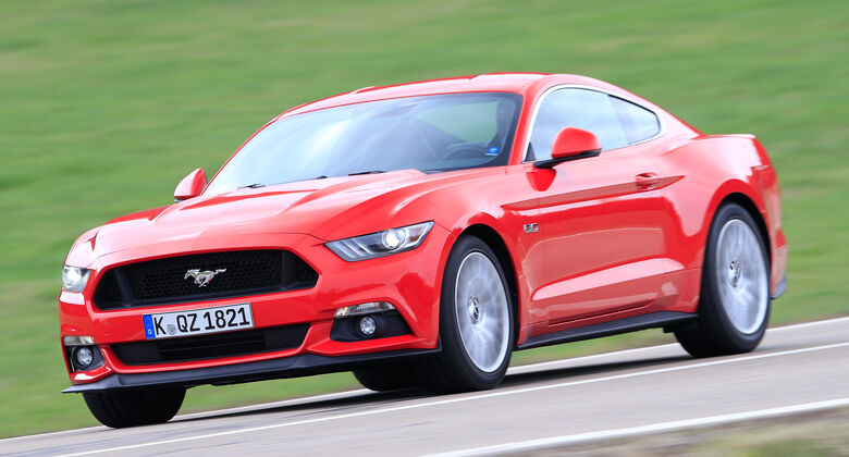 Ford Mustang GT 5.0 Fastback, Seitenansicht
