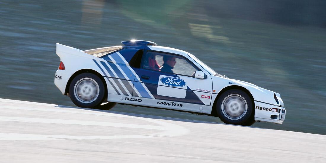 Ford RS 200, Seitenansicht