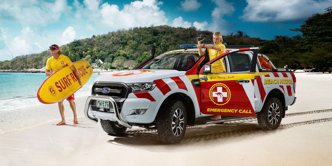 Ford Ranger Great Barrier Reef Beach Patrol Showcar