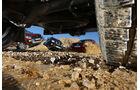 Ford Ranger, Nissan Navara, Toyota Hilux, VW Amarok, Gelände