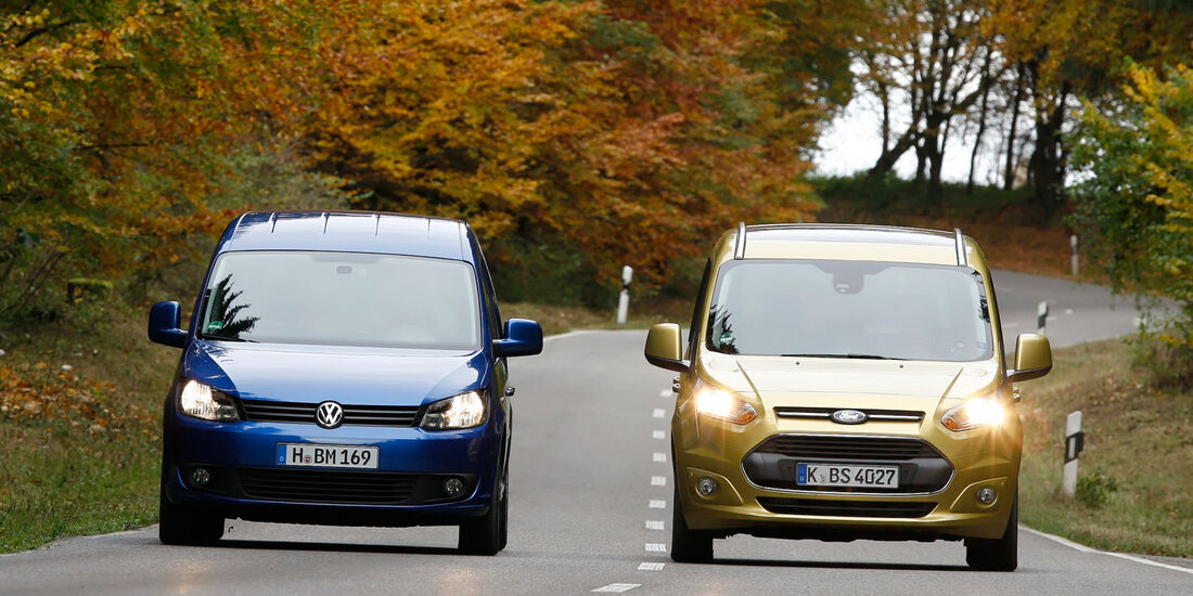 Ford Tourneo Connect, VW Caddy, Frontansicht
