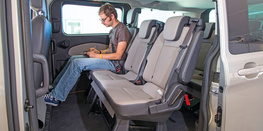 Ford Tourneo Custom, Stuhl verstellen