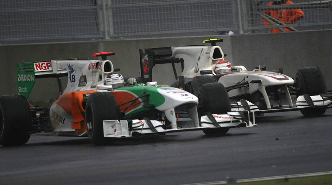 Formel 1 GP Korea 2010 Sutil Kobayashi