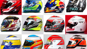 Formel 1 - Helm-Collage 2015