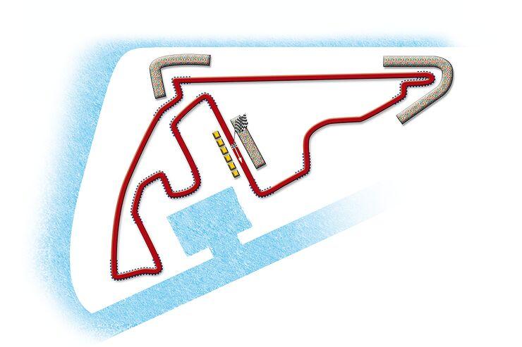 Formel 1- Rennstrecke Abu Dhabi
