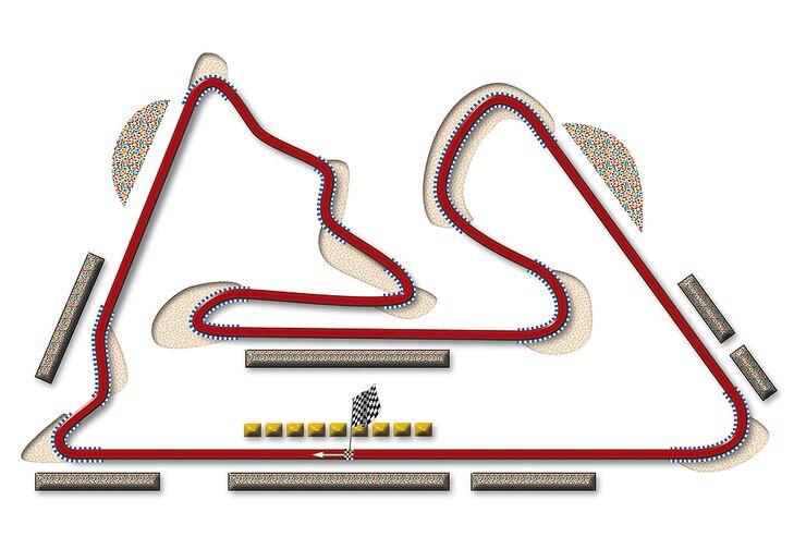 Formel 1- Rennstrecke Bahrain