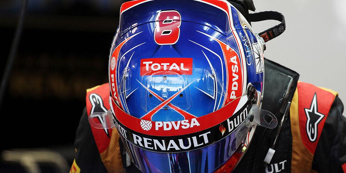 Formel 1, Romain Grosjean, Lotus E22, Bahrain, Test, Tag 1
