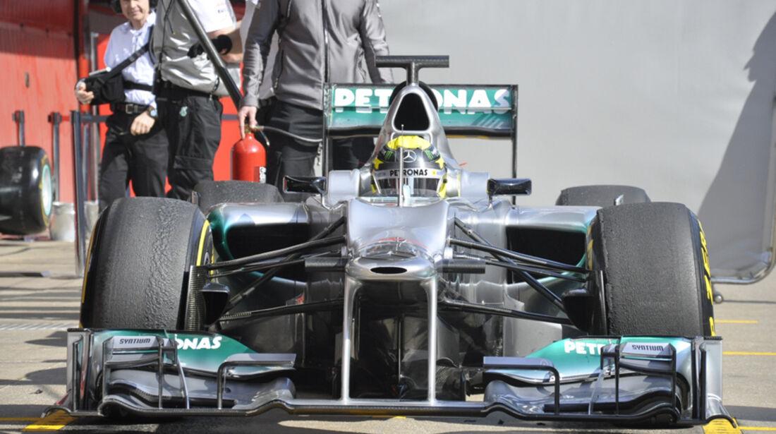Formel 1-Test, Barcelona, 01.03.2012, Nico Rosberg, Mercedes GP
