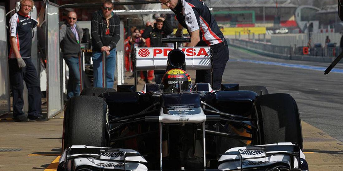 Formel 1-Test, Barcelona, 01.03.2012, Pastor Maldonado, Williams