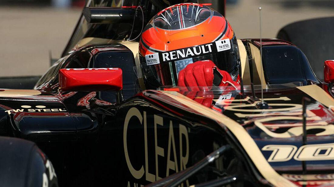 Formel 1-Test, Barcelona, 01.03.2012, Romain Grosjean, Lotus Renault GP